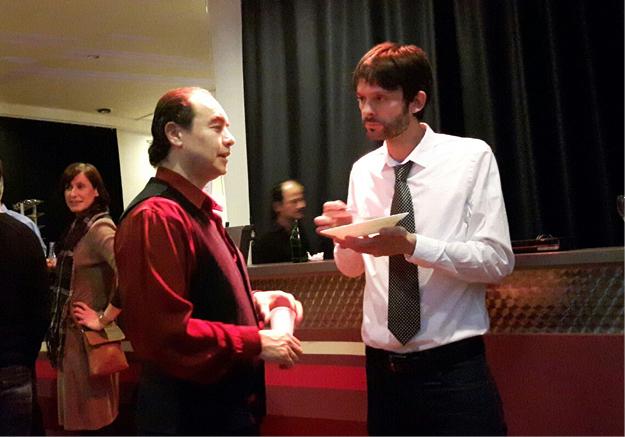 Con el director de Escena Guillermo Amaya PORT